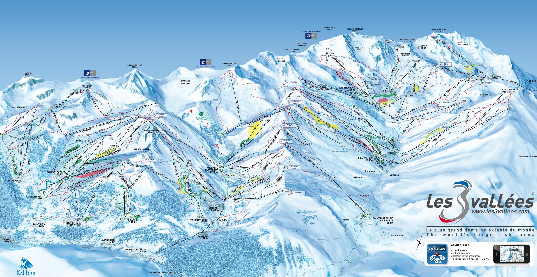 mapa pistas Val Thorens + Orelle