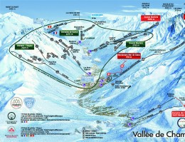 Map of the ski resort Chamonix Le Pass